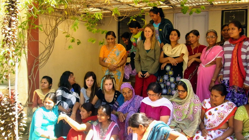 India - Vipassana, students