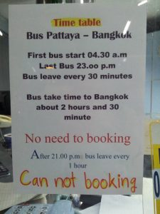 Thailand - Pattaya, bus