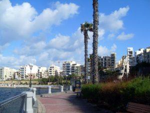 Malta - promenade in Bugibba