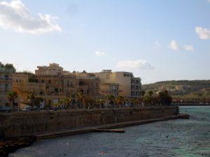 Malta - sea side of Bugibba