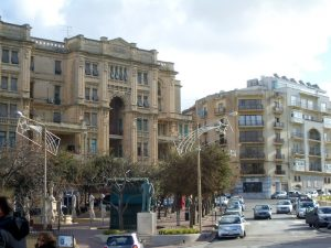 Malta - square of St. Julian's